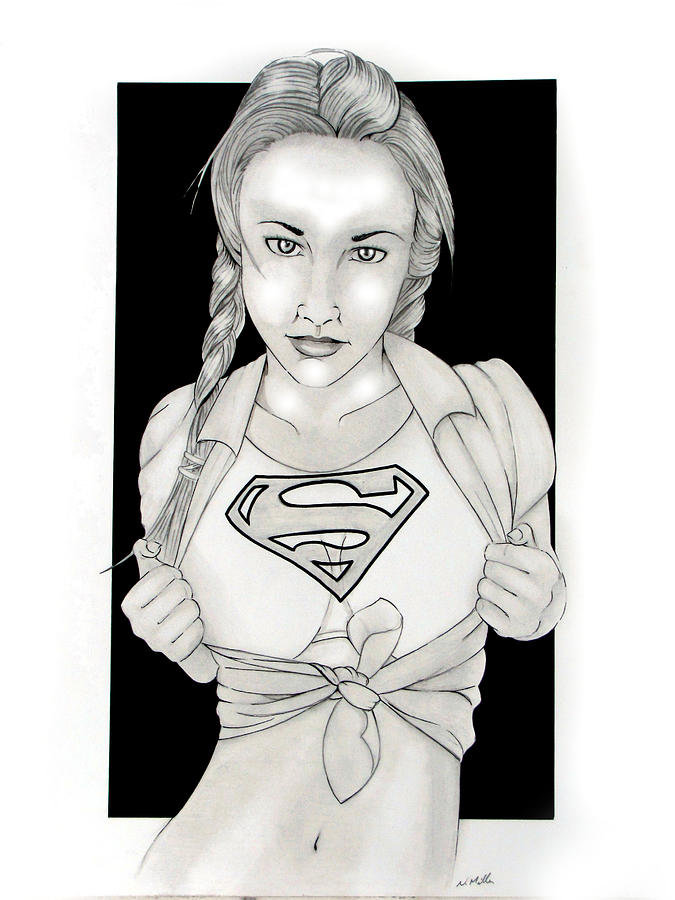Dc Comics Drawing - Supergirl by Nathan  Miller