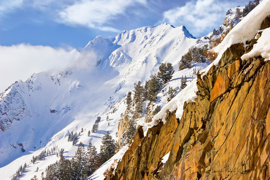 Superior Peak In The Utah Wasatch Mountains  Photograph