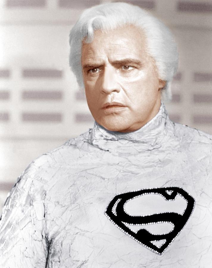 Superman, Marlon Brando, 1978 Photograph