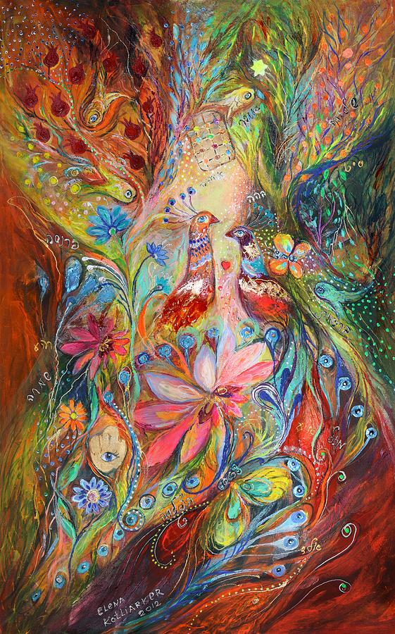 Judaica Painting - Supremacy Of Red by Elena Kotliarker
