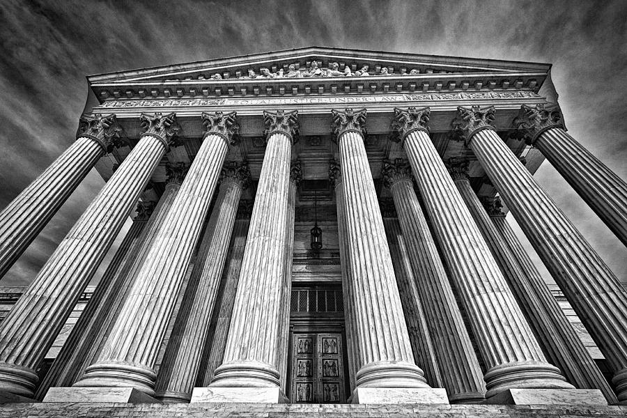 Black Russian Photograph - Supreme Court Building 8 by Val Black Russian Tourchin