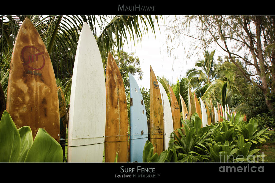 Surf Fence - Maui Hawaii Posters Series Photograph  - Surf Fence - Maui Hawaii Posters Series Fine Art Print
