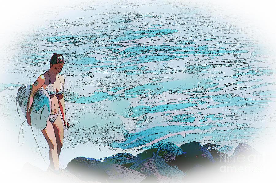 Surf Lass Digital Art
