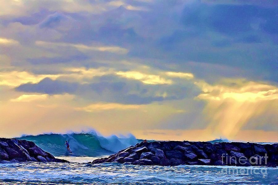 Surf Rider Painting