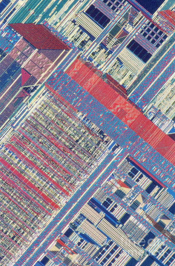 Surface Of Integrated Chip Photograph