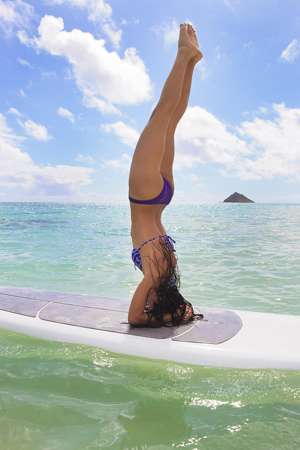 Surfboard Headstand Photograph  - Surfboard Headstand Fine Art Print
