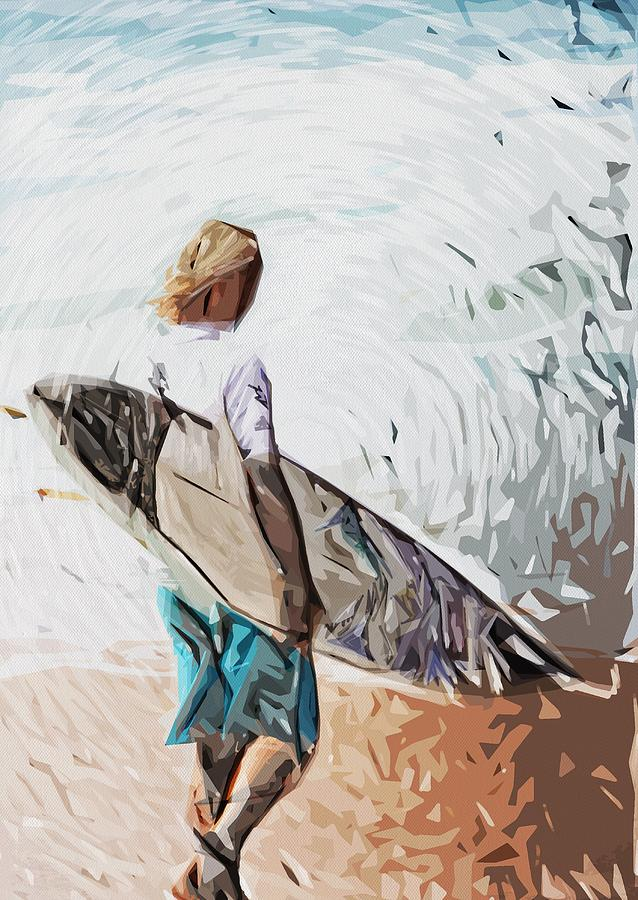 Surfer Dude Digital Art - Surfer by Tilly Williams