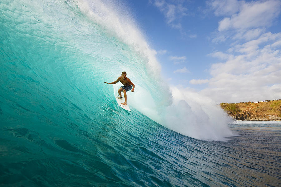 Surfing At Honolua Bay II Photograph