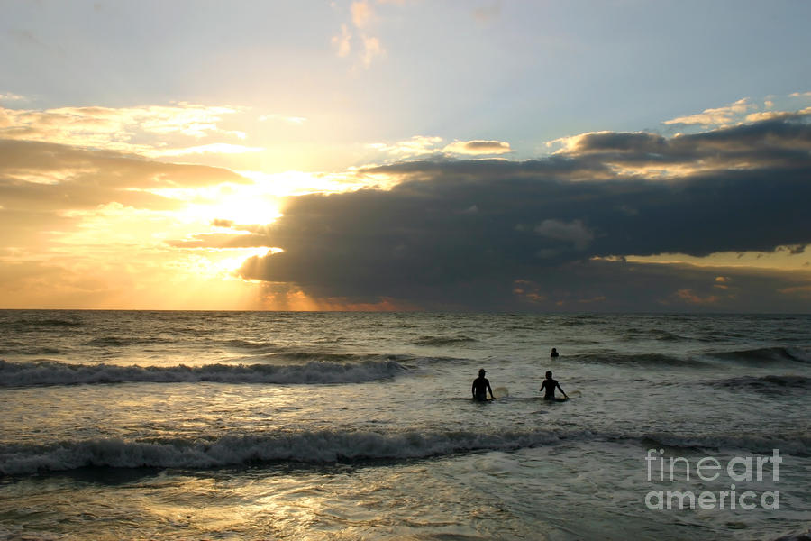 Surfing Into Sunset Photograph