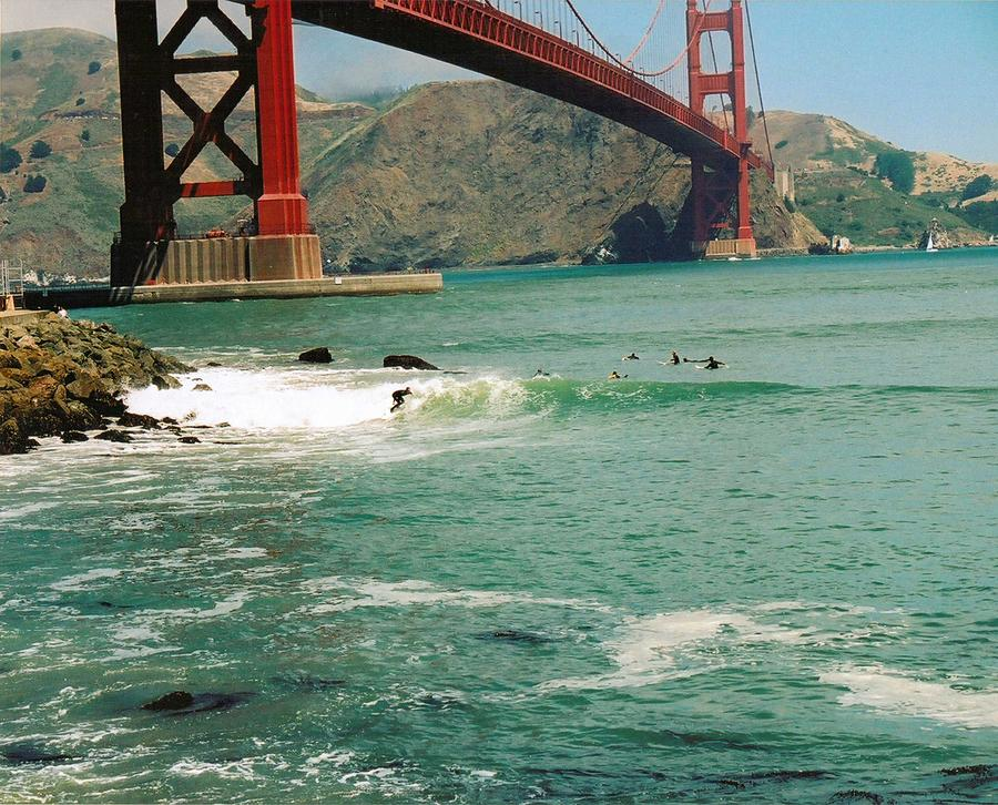 Surfing The Golden Gate Photograph