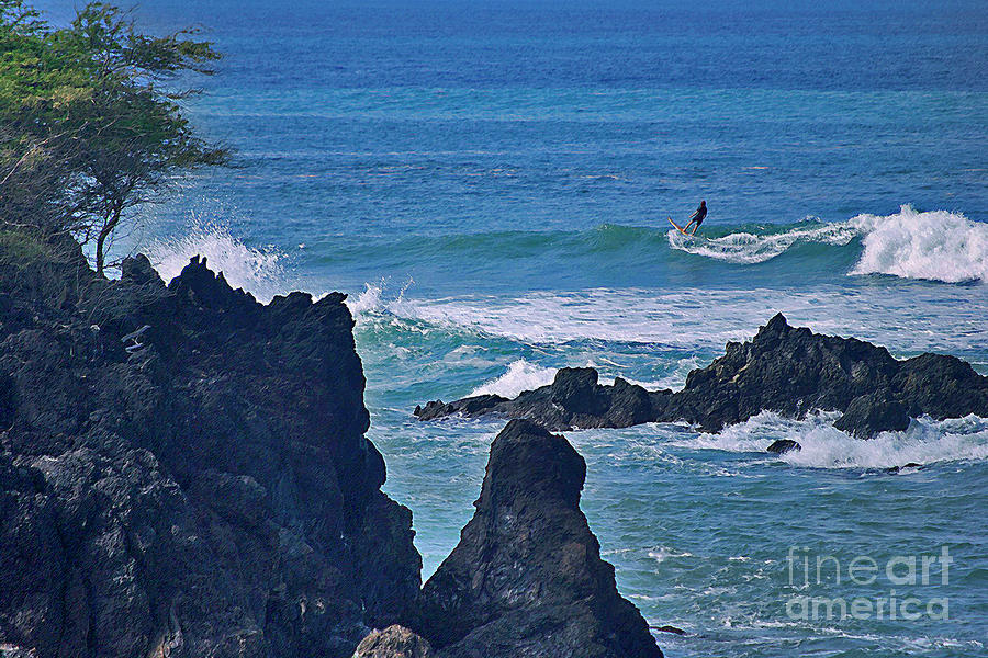 Surfing The Rugged Coastline Photograph  - Surfing The Rugged Coastline Fine Art Print