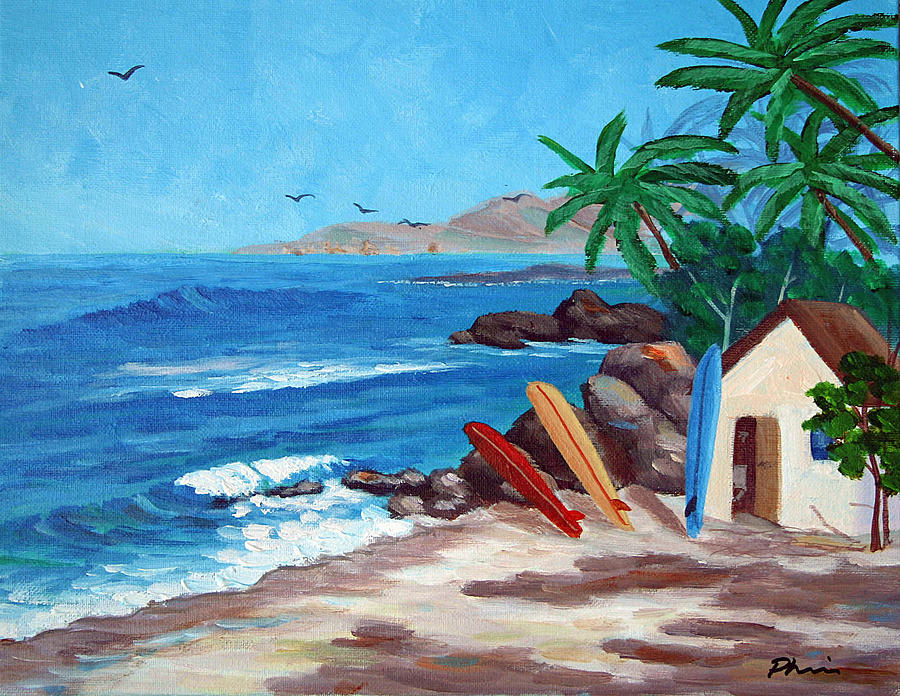 Surfing Trio Painting