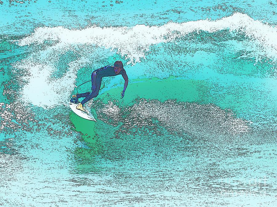Huntington Greeting Cards Digital Art - Surfing Usa by Star Ship