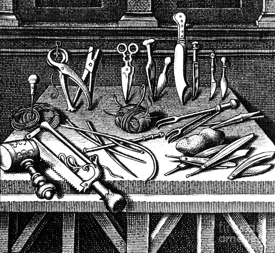 Surgical Equipment, 16th Century Photograph