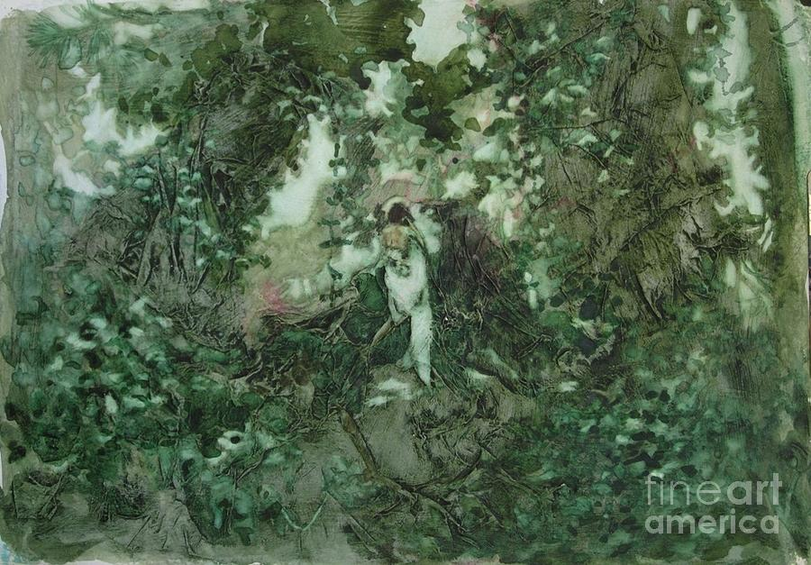 Kudzu Painting - Surprised Bather by Elizabeth Carr