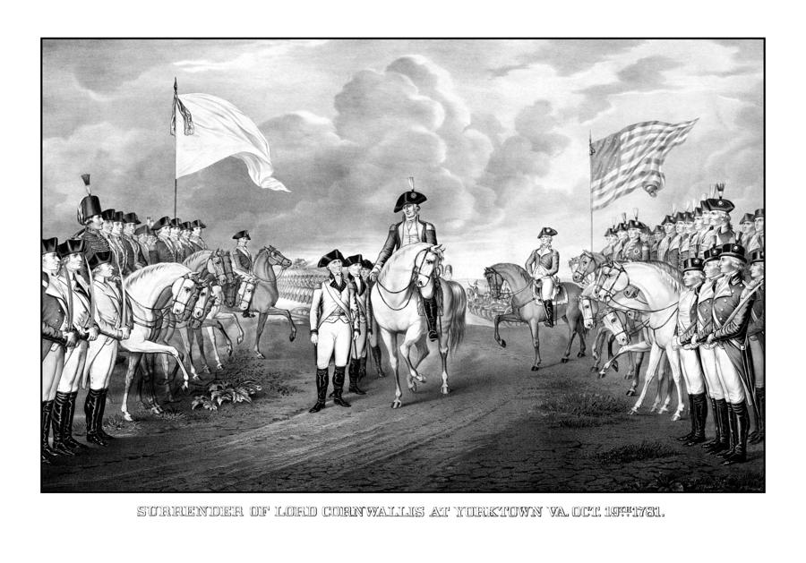 Surrender Of Lord Cornwallis At Yorktown Drawing
