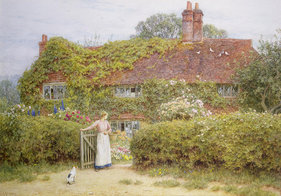Surrey Cottage Painting By Helen Allingham