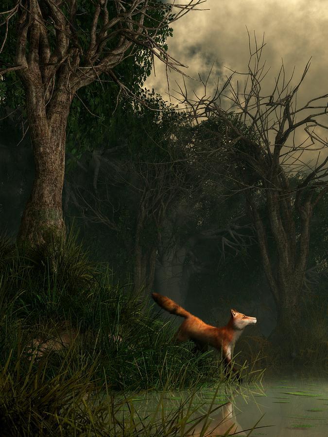 Fox Digital Art - Swamp Fox by Daniel Eskridge