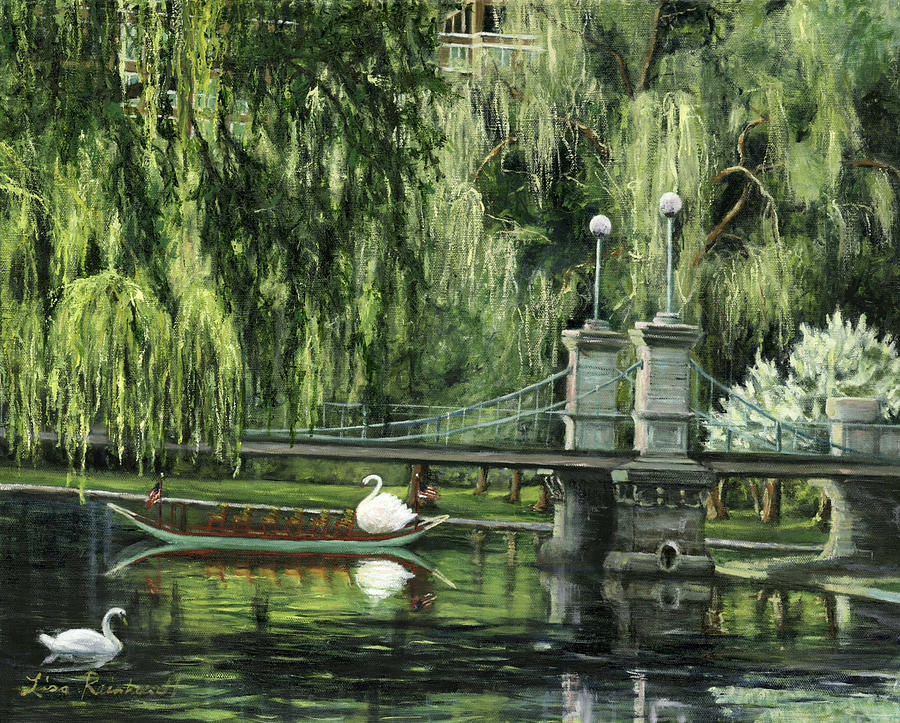 Swan Boats Painting