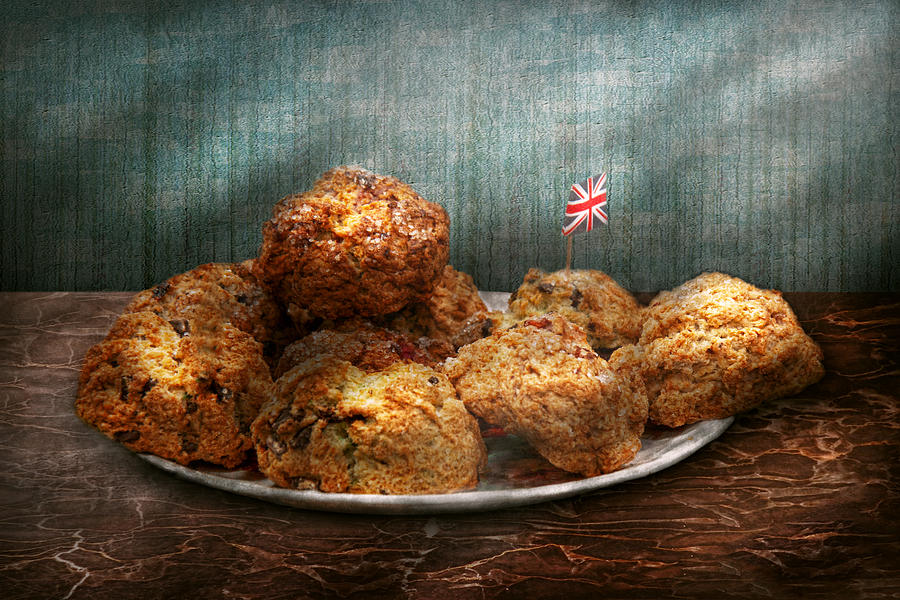 Scone Photograph - Sweet - Scone - Scones Anyone by Mike Savad