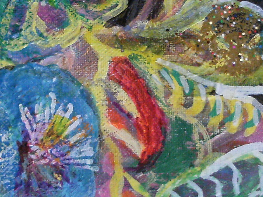 Sweet Closeview Of Floral Delights Mixed Media