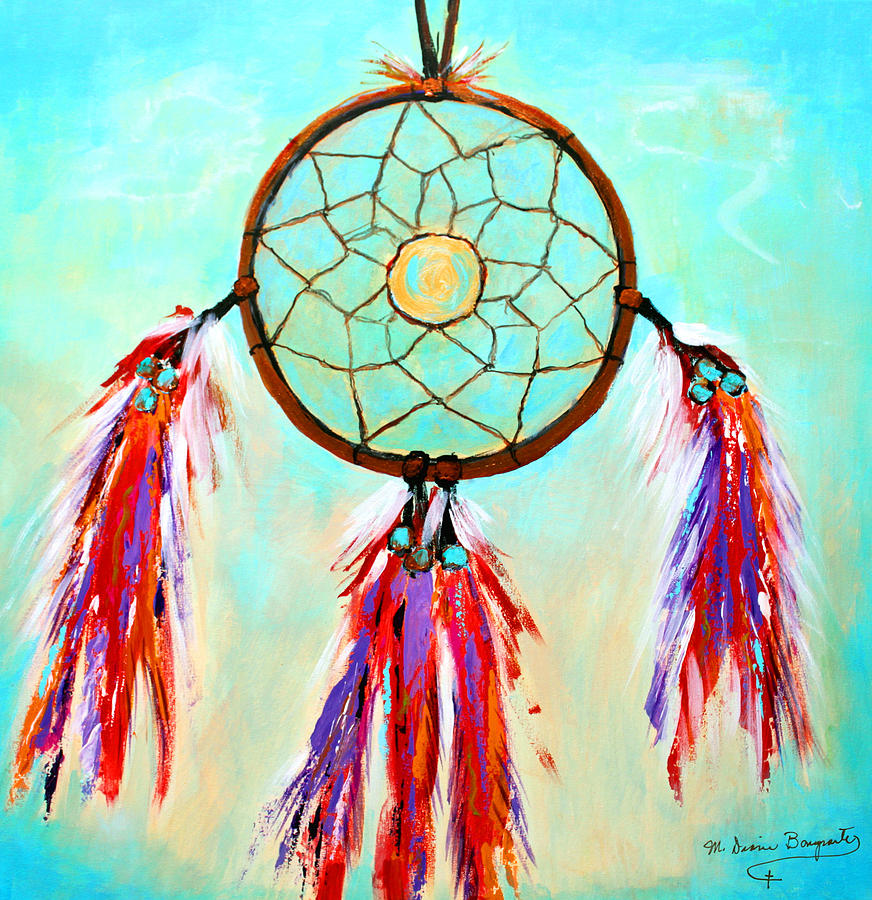 Sweet Dream Catcher Painting  - Sweet Dream Catcher Fine Art Print
