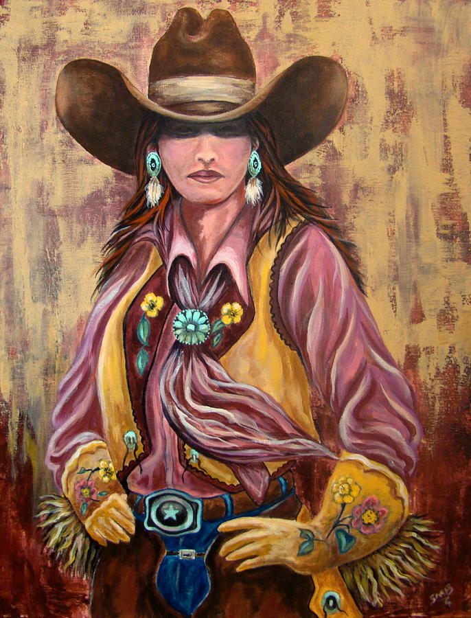Cowgirl Painting - Sweet Rosy Brown by Susan Bergstrom