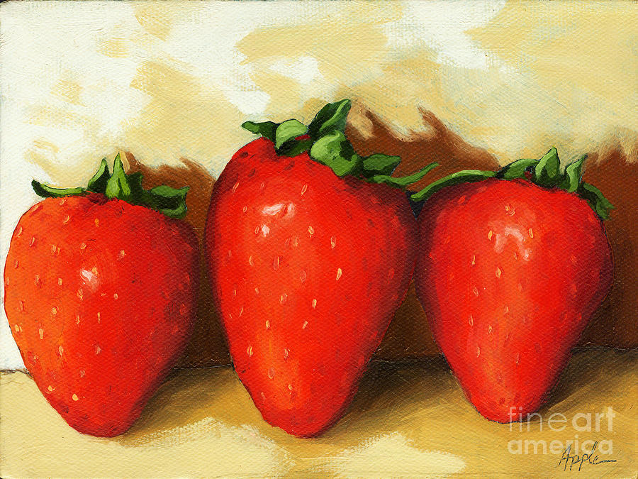 Sweet Strawberries - Food Still Life Painting