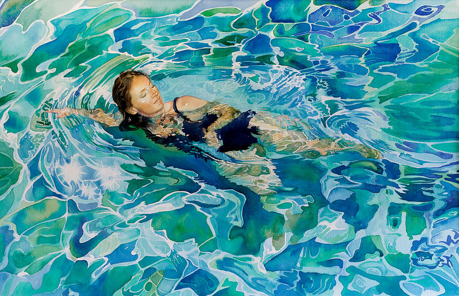 Swimming Pool Painters : Swimmer painting by gilly marklew
