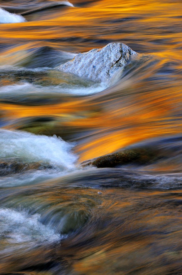 Swirls And Patterns Of Nature - Swift River Reflections Photograph