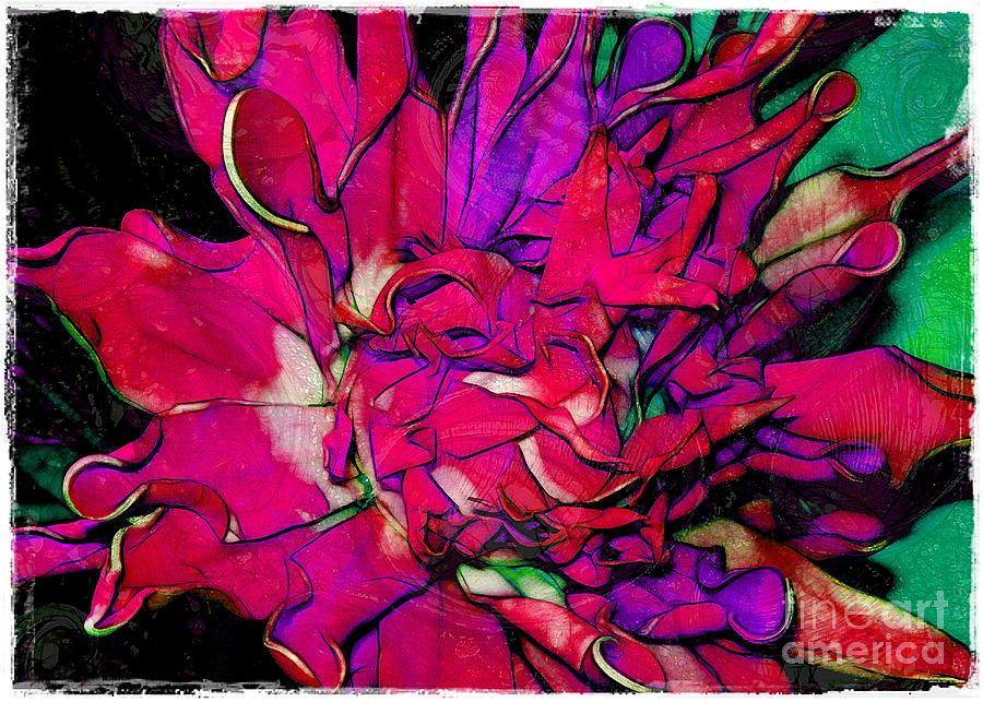 Swirly Fabric Flower Photograph