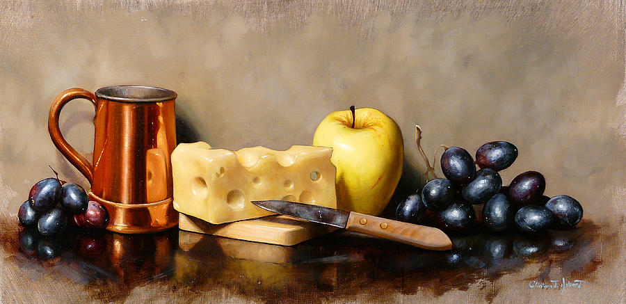 Swiss And Grapes Painting