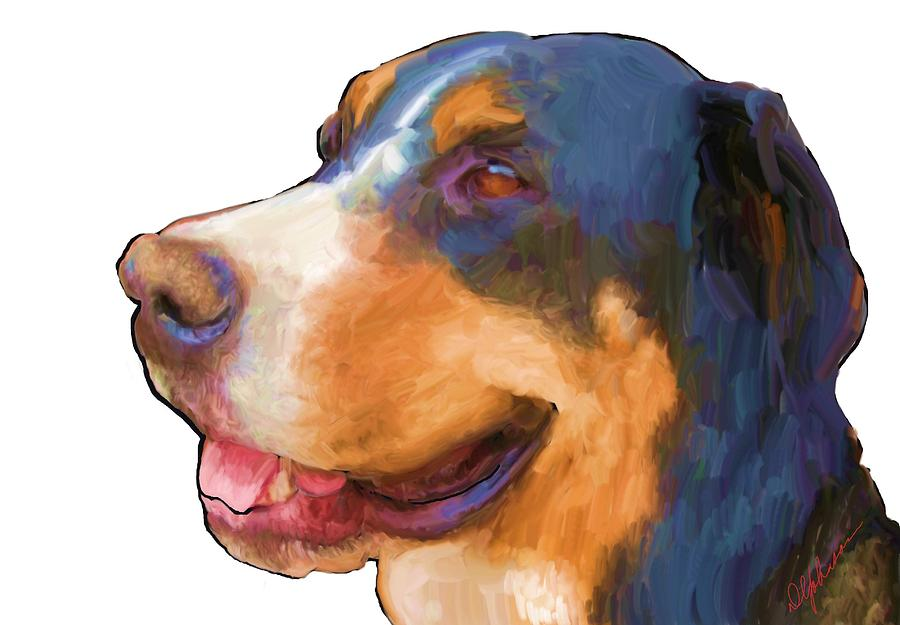 Swiss Bernese Painting  - Swiss Bernese Fine Art Print