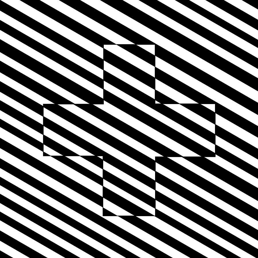 Swiss Drawing - Swiss Flag Illusion by Slot Machine