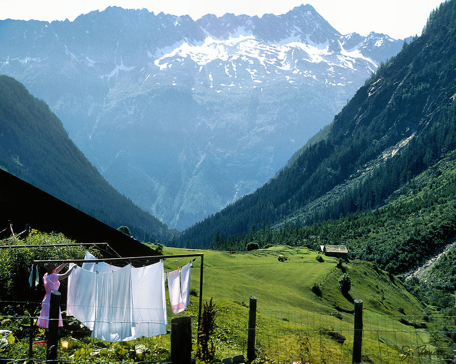 Swiss Laundry Photograph  - Swiss Laundry Fine Art Print