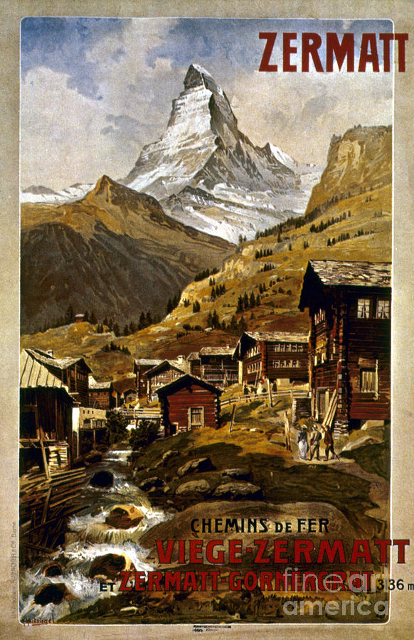 Swiss Travel Poster, 1898 Painting