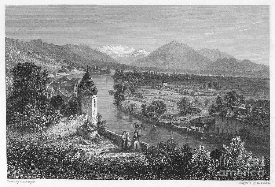 Switzerland: Thun, 1833 Photograph  - Switzerland: Thun, 1833 Fine Art Print
