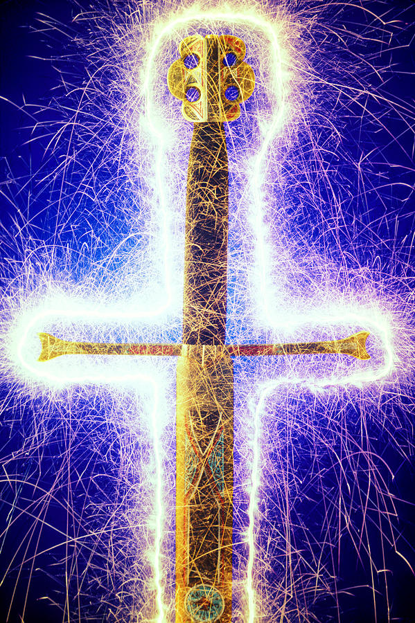 Sword With Sparks Photograph