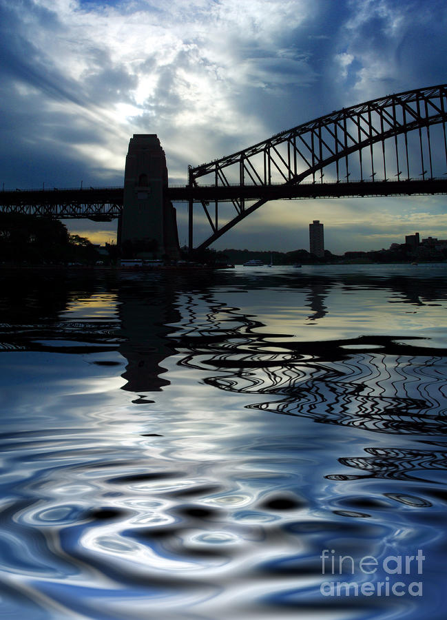 Sydney Harbour Bridge Reflection Photograph  - Sydney Harbour Bridge Reflection Fine Art Print