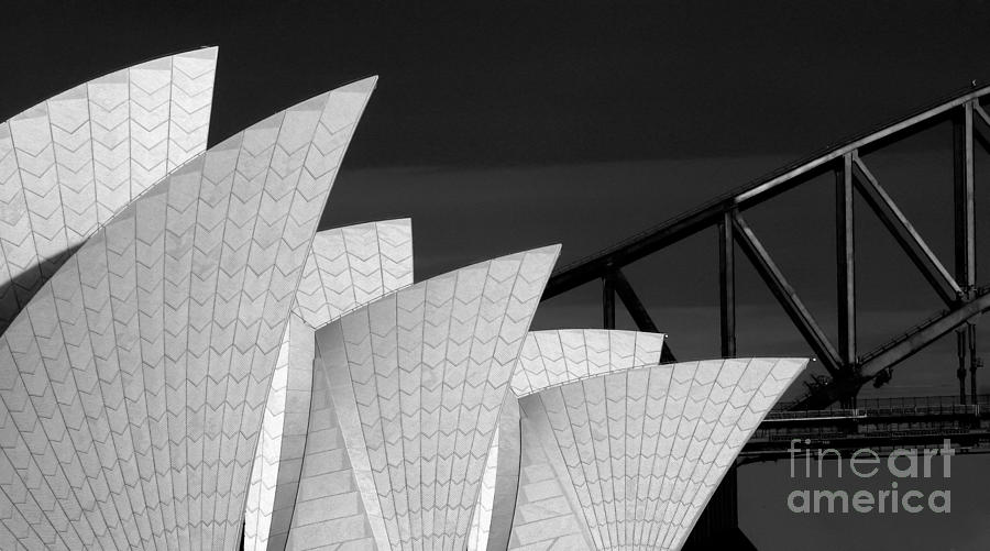 Sydney Opera House With Bridge Backdrop Photograph