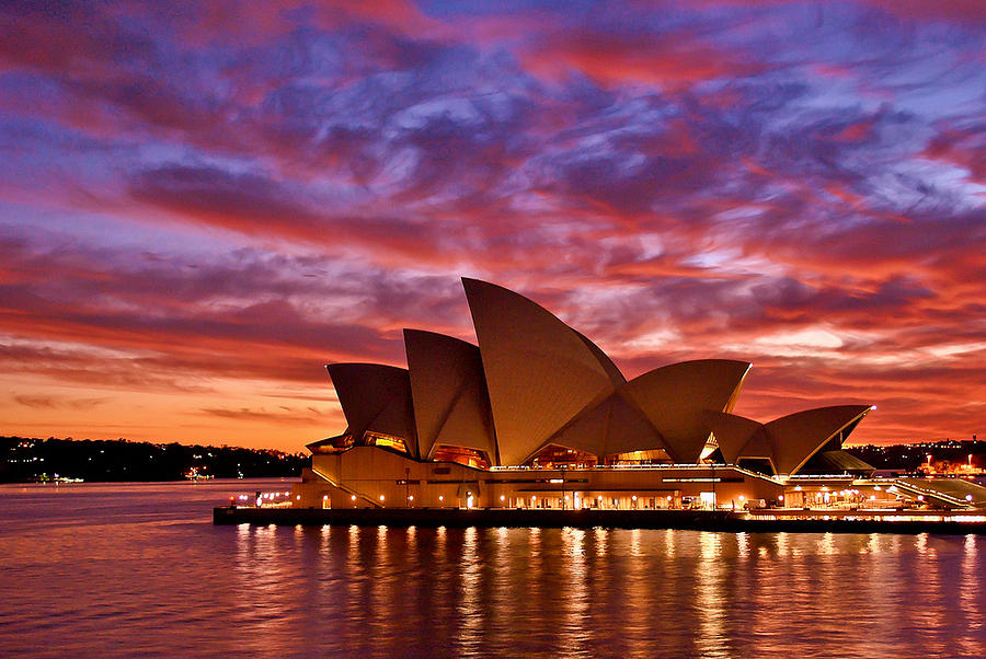 Sydney Photograph - Sydney Operahouse by Preston Coe