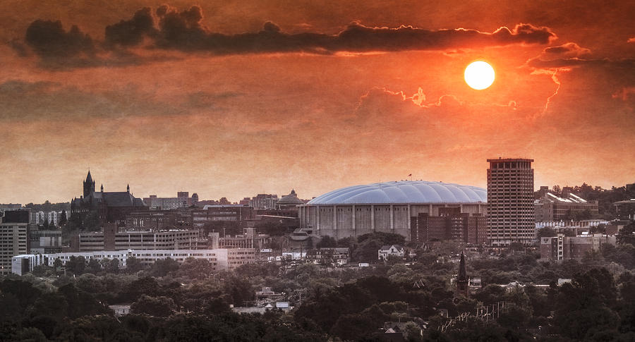 Syracuse Sunrise Over The Dome Photograph
