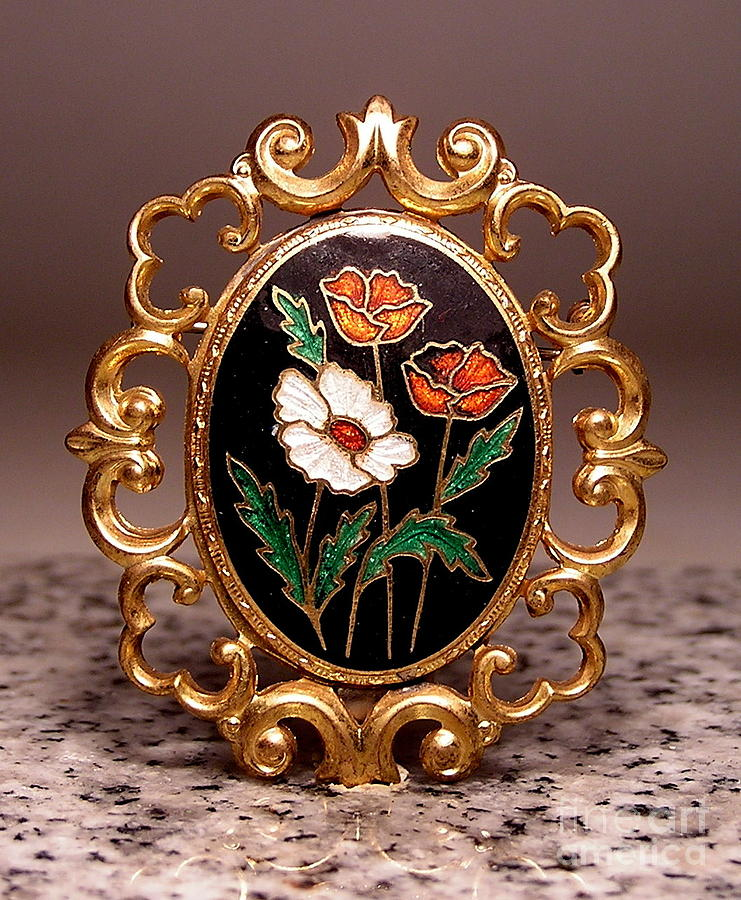 Floral Pin Jewelry - T 7 by Dwight Goss