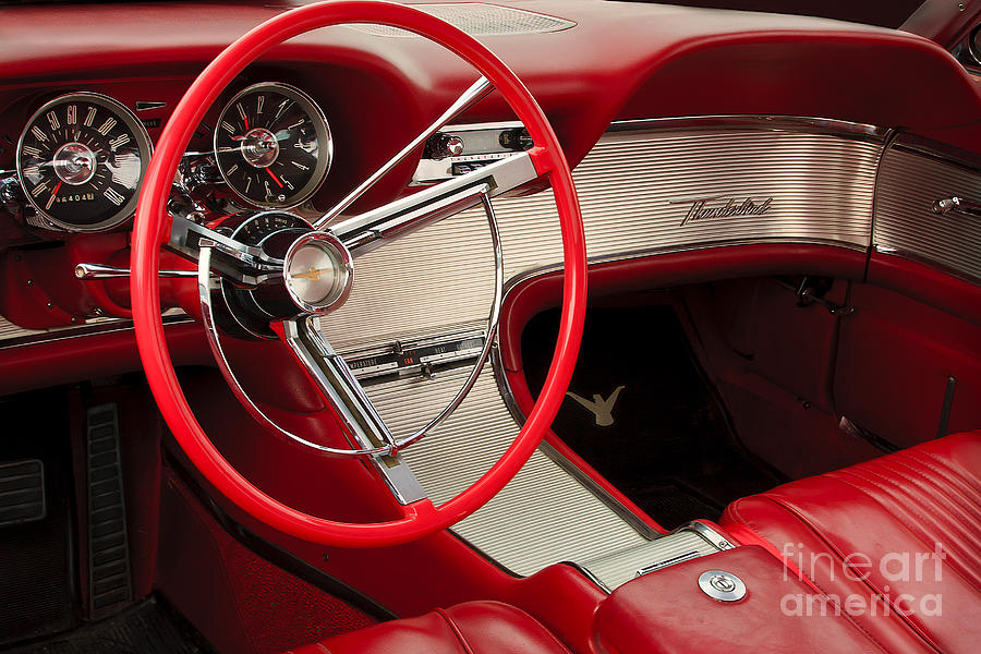 Classic Automobile Photograph - T-bird Interior by Dennis Hedberg