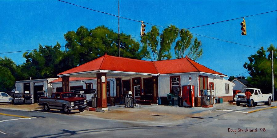 T. R. Lee Service Station Painting  - T. R. Lee Service Station Fine Art Print