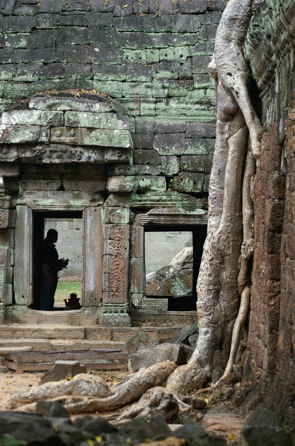 Ta Prohm Prayers Photograph  - Ta Prohm Prayers Fine Art Print