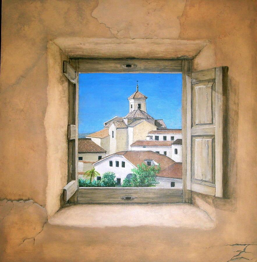 Trompe L'oeil Landscape Painting - Taberno by Jeremy Fox-Rayner