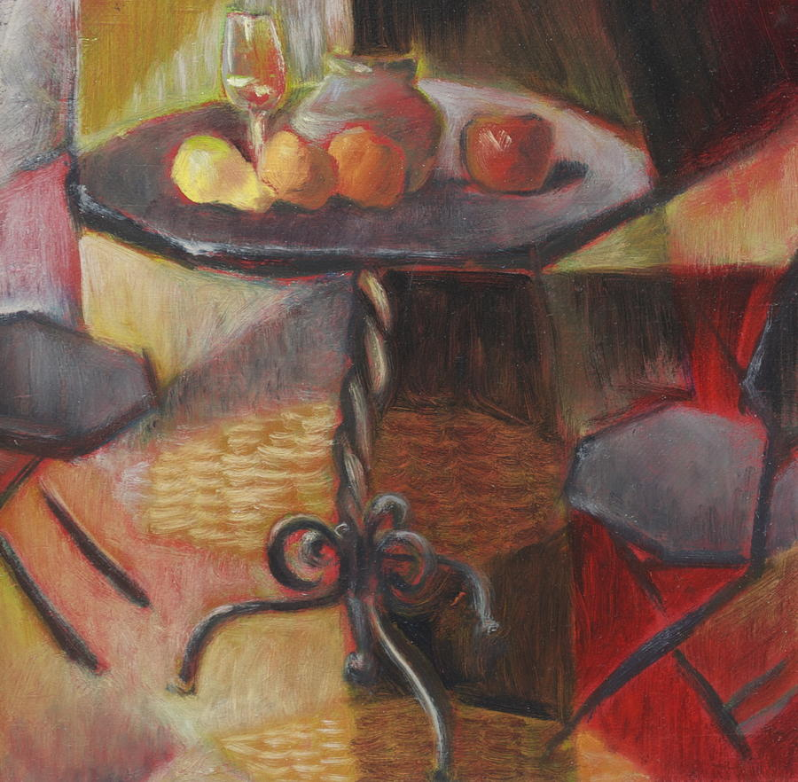 Table And Chairs Painting  - Table And Chairs Fine Art Print