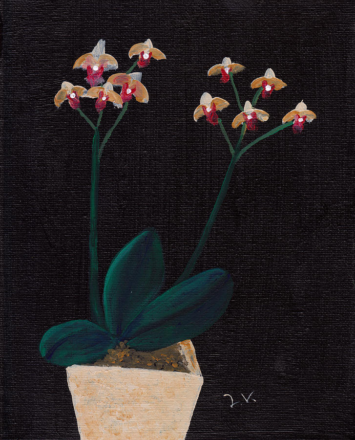 Table Orchid Painting