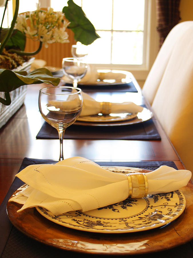 Table Set For Dinner Photograph
